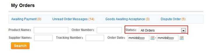 Проверка статуса заказа