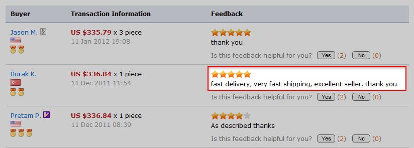 Комментарии других покупателей AliExpress