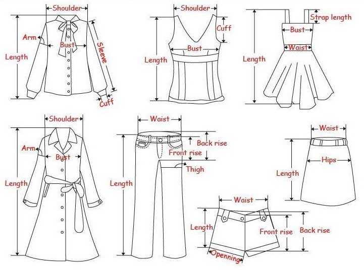 Как правильно снимать свои мерки одежды?