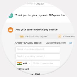 Создайте учетную запись AliPay