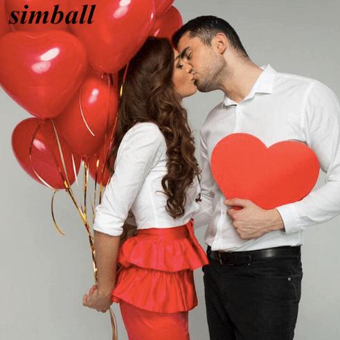 Воздушные шары-сердечки