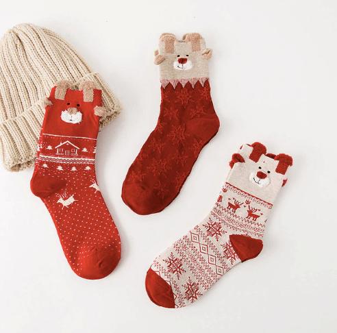 Теплые рождественские носки