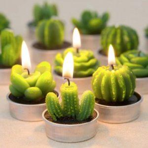 Свечи в форме кактусов