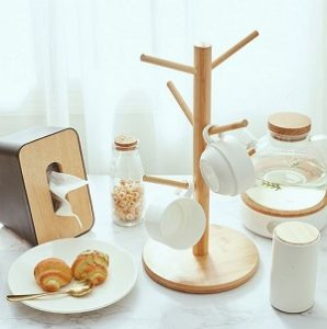 Деревянная стойка для чашек в скандинавском стиле